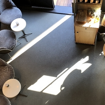 Cafe Zemin Kaplama-Stone Carpet, Taş Halı