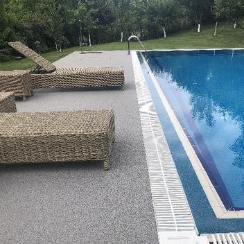 Havuz Kenarı Taş Halı Uygulaması-Stone Carpet