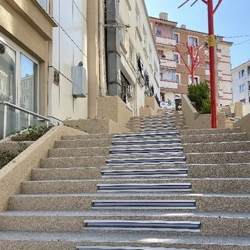 Bolu Beld. Kent Meydanı Merdiven Uygulamamız-Taş Halı, Stone Carpet